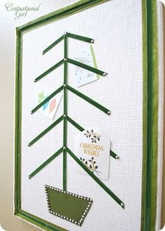 Another cute way to display your Christmas Cards