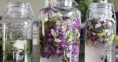 Det bästa är att prova sig fram med olika ätbara blad-blandningar för att hitta sin egen favorit. Några förslag är1.Rosblad och citronverbena2.Jasmine, rabarberstjälkar och mandelblad3.Svartvinbärsblad och rabarberstjälkar