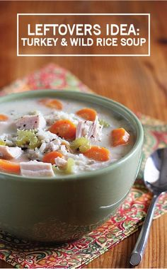 Combine the comfort of a steaming bowl of soup with the simplicity of leftovers from Thanksgiving Day with this Turkey and Wild Rice Soup. It's everything you're craving and more, without the usual hassle of cooking a new meal.