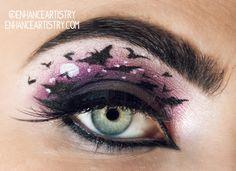 batty halloween makeup