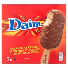 Daim Caramel Ice Cream with Milk Chocolate Coated Daim Pieces 3 x Chocolate Candy Brands, Chocolate Sweets, Bad Room Ideas, Caramel Ice Cream, Snack Recipes, Snacks, Chocolate Coating, Cocoa Butter, Pop Tarts