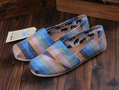 TOMS Outlet! Most pairs are less than $20! | See more about pink stripes, toms shoes outlet and crochet shoes.