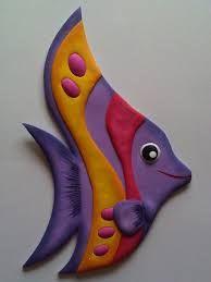 Ideas decorativas e imagenes de animales en foami - Snore Tutorial and Ideas Clay Fish, Ceramic Fish, Ceramic Art, Clay Art Projects, Polymer Clay Projects, Clay Crafts, Polymer Clay Kunst, Keramik Design, Fish Crafts