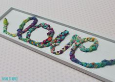 How to Use Fabric Scraps for A Cute Braided Fabric Sign!