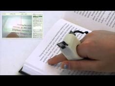 Finger Reader Wearable Text Reading Device reads text to the blind.