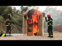 Watch this French test of straw bale fire resistance. Even with exposed (unplastered bales) the fire never caught the bales.