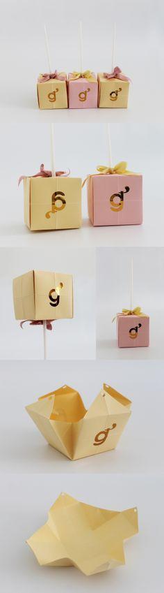 Branding & Cakepops Packaging for Glutaneza® freelancer baker. Design by Ana Isabel Morais