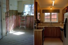 Before & after - kitchen renovation