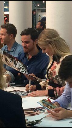 Josh Dallas, Colin O'Donoghue and Jennifer Morrison at the#OUaT autograph session! #sdcc2016