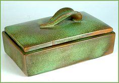 Eclectisaurus | Vintage & Antique Ceramics · Frankoma pottery dresser box.