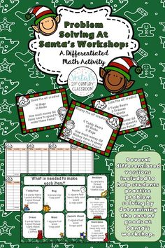 These Christmas Math Task Cards provide lots of options to differentiate learning for your students. With this Christmas task card activity, students will practice solving problems about Santa's workshop while using whole numbers and decimals. #vestals21stcenturyclassroom #christmasmath #christmasmathtaskcards #christmasmathactivity