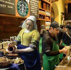 Starbucks laitière, par Shusaku Tokaoka