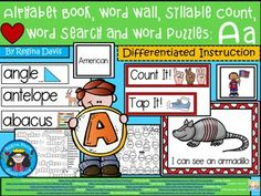 https://www.teacherspayteachers.com/Product/A-Alphabet-Book-Aa-Word-Wall-Syllable-Count-Word-Search-Word-Puzzles-1881799