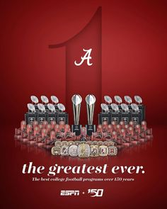 𝓽𝓱𝓮 𝓰𝓻𝓮𝓪𝓽𝓮𝓼𝓽 𝓮𝓿𝓮𝓻. Alabama has been named the best college football program over the past 150 years. Sec Football, College Football Teams, Oregon Ducks Football, Football Program, Ohio State Football, Football Stuff, Football Memes, Sport Football, American Football