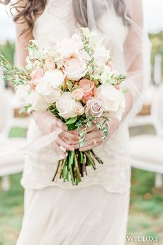 WedLuxe – A Romantic Italian Vineyard Wedding With Blush Accents | Photography by: Anna Grinets Photography Follow @WedLuxe for more wedding inspiration!