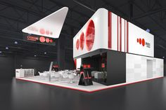 Exhibition stand for Akado. Exhibition Stall, Double Deck, Booth Design, Cinema 4d, Design Inspiration, Exhibit Design, Stalls, House, Exhibitions