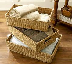 Savannah Underbed Baskets  Med #potterybarn