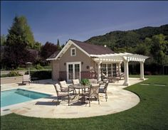 Nice Houses With Pools farmhouse pool house, guest cottage | ojai farmhouse | pinterest