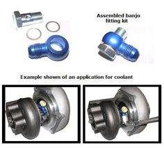 Banjo Fitting Kit, (1) ALUM Banjo fitting 14mm hole (for 14mm bolt) with -6 AN male flare