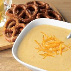This mix is a blend of cheddar cheese, vegetables, spices and beer that come together into a one-of-a-kind flavor that makes a fantastic, hearty soup.