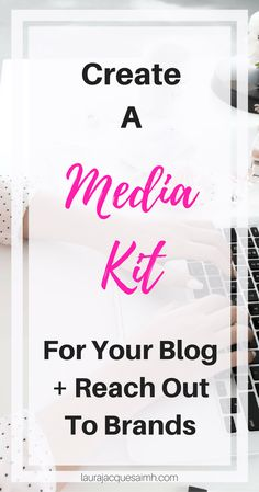 Create a media kit for your blog - it's one of the best things you can do to grow your brand + reach out to companies for sponsored content. It's the best way to ensure you look like a professional blogger!