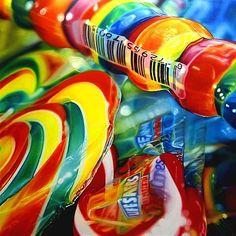 Painting by Sarah Graham Sarah Graham Artist, Juan Sanchez Cotan, Paletas Chocolate, Realistic Oil Painting, Food Art Painting, Sweets Photography, Sweet Drawings, Candy Art, A Level Art