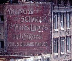 Young & Schmuck's ghost sign, NYC