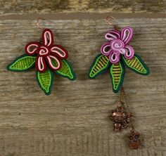 Dangle Soutache EarringsKitten And OwlEveryday by SDSoutacheDreams