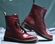 Handmade Burgundy Boot, Men's Chukka Leather Lace Up