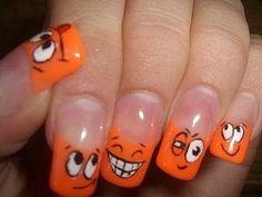 cool nail artsy cute Halloween