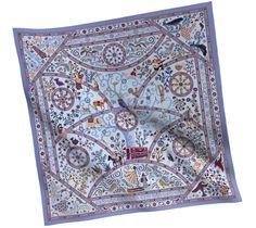 2014 F/W   Peuple du Vent   Cashmere and silk shawl (140 cm x 140 cm)   Ref. H242502S 26 CIEL/PARME/BRUN