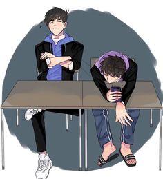 Osomatsu-san- Karamatsu and Ichimatsu Manga Boy, Manga Anime, Anime Siblings, Osomatsu San Doujinshi, Cool Anime Pictures, Got7 Fanart, Comedy Anime, Ichimatsu, Manga Illustration
