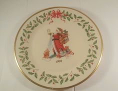 LENOX - Annual Holiday Collector's Plate - 1994 - Fourth in Series