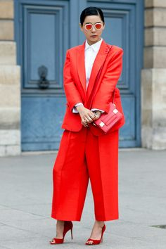 Streetstyle at Fashion Week in Paris. Part 3