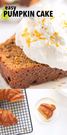 This pumpkin cake from scratch is made with Greek yogurt to make it super tender and moist. It's an easy recipe, that's more delicious than any box cake mix, especially when you add the light cream cheese frosting. #creamcheesefrosting #pumpkincake Pumpkin Bundt Cake, Pumpkin Cake Recipes, Pumpkin Bread, Delicious Cake Recipes, Yummy Cakes, Dessert Recipes, Desserts, Homemade Frosting Recipes, Orange Jello