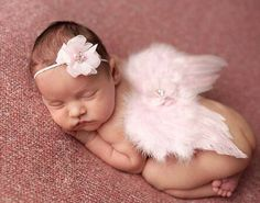 Your precious angel with take beautiful photo's with these Wings pink baby photography props newborn infant.