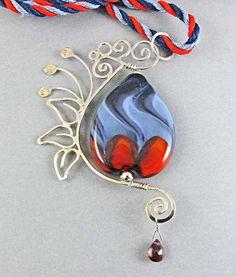 Evening Garden Lampwork Bead Necklace