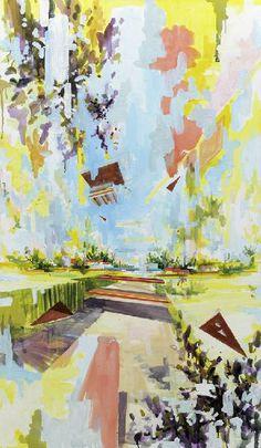 David Schnell, Im Feld, 2011, oil on canvas