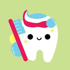cute tooth vector