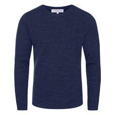0a05161750 OB-T Merino - Navy Tailored-Fit Merino Crew Neck Long-Sleeve T-Shirt | Orlebar  Brown. Tailored ShortsSwim ...