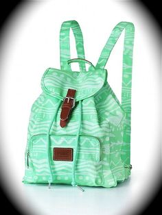 New Victoria& Secret Pink Mini Backpack Mint Aztec . Mini Backpack, Backpack Purse, Canvas Backpack, Rucksack Backpack, Messenger Bag, Cute Purses, Purses And Bags, Lv Bags, Victoria Secret Backpack