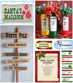 All the signs, designs and extras for your Ho Ho Homicide party!