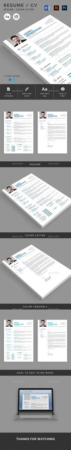 Resume - Resumes Stationery Print Templates/Stationery Pinterest