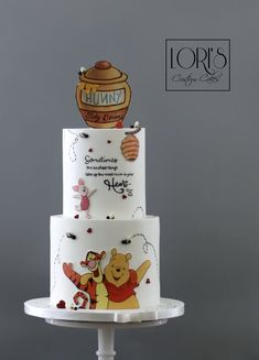 Lori's Custom Cakes in San Diego, offering the very best custom birthday cakes, wedding cakes and celebration cakes. Need a Birthday Cake? Winnie Pooh Torte, Winnie The Pooh Birthday, Baby First Birthday Cake, Custom Birthday Cakes, Baby Shower Cakes, Baby Boy Shower, Cake Blog, Disney Cakes, Cute Cakes