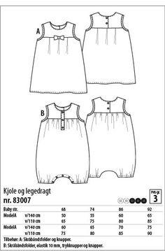 kjole og legedragt - 83007 - Stof & Stil