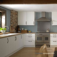 Information about the fitted kitchen planning and fitting service available from John Lewis shops; Cream Kitchen Cupboards, Cream Shaker Kitchen, Shaker Style Kitchens, Home Kitchens, Cream And Grey Kitchen, Kitchen Cabinets, Kitchen Dinning, Home Decor Kitchen, Country Kitchen