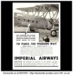 AVIATION - Imperial Airways Advert from the Bystander Magazine, May 1st, 1934.