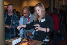 Those appetizers were the best! Kenneth Hilton, Greg McCants and Jessica McCants.