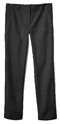 GAP Womens Black Bi-Stretch Slim Crop Zip Pocket Capri Pants 16