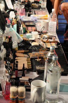 The Makeup Counter backstage at the VS Fashion Show. I die.